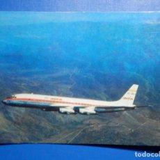 Postales: POSTAL AVIONES IBERIA LINEAS AEREAS DE ESPAÑA - JET DOUGLAS DC-8 TURBOFAN - ED PUMERSA - NUEVA, 1968. Lote 296916798