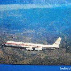 Postales: POSTAL AVIONES IBERIA LINEAS AEREAS DE ESPAÑA - JET DOUGLAS DC-8 TURBOFAN - ED PUMERSA - NUEVA, 1968. Lote 296917098