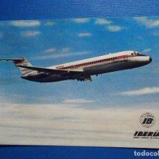 Postales: POSTAL AVIONES IBERIA - LINEAS AEREAS DE ESPAÑA - JET DOUGLAS DC-9 SERIE 30 - ED. FISA - NUEVA. Lote 296917338