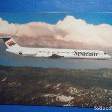 Postales: POSTAL AVIONES - SPANAIR - WHERE THE SKY IS NO LIMIT . - MD-83 - NUEVA. Lote 296917498