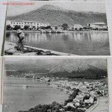 Postales: 12 ANTIGUAS VISTAS DE POLLENSA, VILLA, PUERTO Y FOMENTOR. Lote 19092729