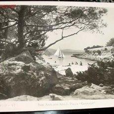 Postales: ANTIGUA FOTO POSTAL DE IBIZA - SAN ANTONIO ABAD - PLAYA GRASSIO - FOTO VIÑETS - 1950 . Lote 517480