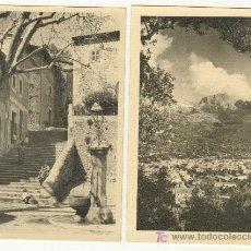 Postales: MALLORCA SOLLER DOS POSTALES ANTIGUAS VISTA PUEBLO, CALLE, MONTAÑA PUIG MAJOR 1500 MTS.. Lote 22152265