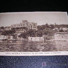 Postales: HOTEL VICTORIA Y CASTILLO DE BELLVER .-PALMA DE MALLORCA.-. Lote 5216811