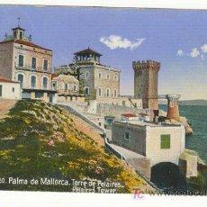 Postales: TORRE DE PELAIRES COLOREADA PALMA DE MALLORCA. Lote 23975039