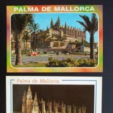 Postales: LOTE DOS POSTALES DE LA CATEDRAL DE PALMA SIN CIRCULAR DE EDICIONES PALMA AÑOS 1988 Y 1989. Lote 16844194