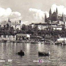 Postales: TARJETA POSTAL DE PALMA DE MALLORCA Nº 537. LONJA Y CATEDRAL . A. ZERKOWITZ.. Lote 6139654
