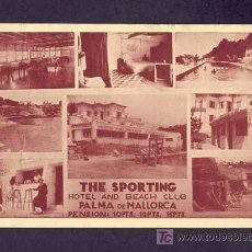 Postales: POSTAL DE PALMA DE MALLORCA (ILLES BALEARS)HOTEL THE SPORTING. Lote 7714425