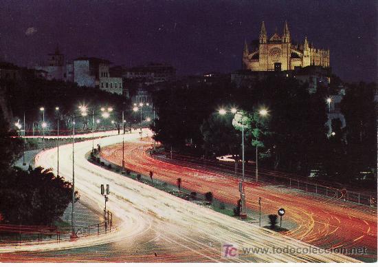 PALMA DE MALLORCA. DETALLE NOCTURNO.Nº 993 ZERKOWITZ.DISTRIBUIDORA ROTGER (Postales - España - Baleares Moderna (desde 1.940))