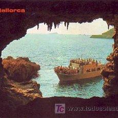 Postales: MALLORCA: POSTAL CIRCULADA DE PALMA DE MALLORCA (BALEARES) A INGLATERRA. RODILLO (PARA BILBAO...). Lote 7945200