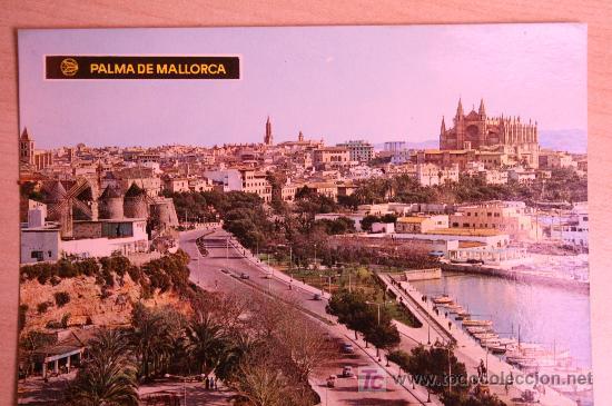 POSTAL ANTIGUA DE PALMA DE MALLORCA. PASEO MARITIMO (Postales - España - Baleares Moderna (desde 1.940))