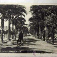 Postales: POSTAL PALMA DE MALLORCA PASEO SAGRERA AÑOS 40. Lote 8880713
