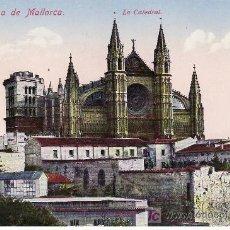 Postales: PALMA DE MALLORCA Nº 26. LA CATEDRAL.CIRCULADA.SELLO DE LA REPUBLICA.. Lote 18940686