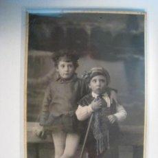Postales: FOTOGRAFIA ANTIGUA TIPOS MALLORQUINES; AMER (MALLORCA). Lote 9330092