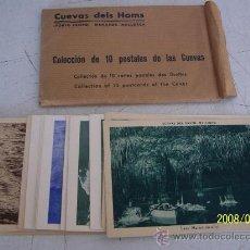 Postales: SOBRE CON 21 POSTALES : CUEVAS DELS HAMS.( 10 ) CUEVAS DEL DRACH(11) PORTO CRISTO, MANACOR, MALLORCA. Lote 14792516