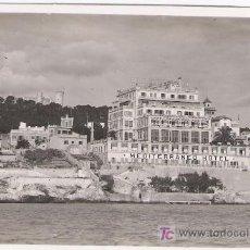Postales: MALLORCA. CASTILLO DE BELLVER Y HOTEL MEDITERRANEO.. Lote 14749579