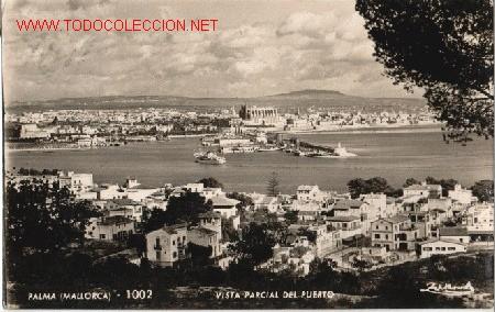 POSTAL DE PALMA DE MALLORCA VISTA PARCIAL DEL PUERTO Nº 1002 (Postales - España - Baleares Moderna (desde 1.940))