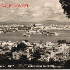 Postales: POSTAL DE PALMA DE MALLORCA VISTA PARCIAL DEL PUERTO Nº 1002. Lote 1530318