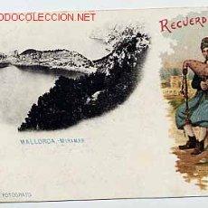 Postales: RECUERDO DE MALLORCA. MIRAMAR FINALES DEL XIX REVERSO SIN DIVIDIR. J. TRUYOL FOTÓ. CROMOLITOGRAFICA. Lote 16315635