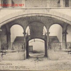 Postales: TARJETA POSTAL DE PALMA DE MALLORCA. PATIO DE LA CASA SOLLERICH.. Lote 235540725