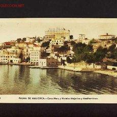 Postales: POSTAL DE PALMA DE MALLORCA (ILLES BALEARS): CORP MARI I HOTELS MAJORICA I MEDITERRANI (ARRIBAS 118). Lote 2388688
