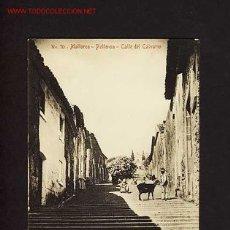 Postales: POSTAL DE POLLENÇA (MALLORCA, ILLES BALEARS): CARRER DEL CALVARI (ED.AM NUM.79). Lote 2388752