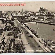 Cartes Postales: PALMA DE MALLORCA. PASEO MARITIMO Y CATEDRAL.ED. A. ZERKOWITZ Nº 857. CIRCULADA. Lote 2436915
