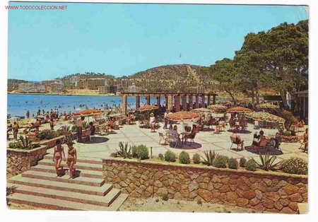 Postal del balneario santa ponsa playa de santa comprar for Aparthotel d or jardin de playa santa ponsa