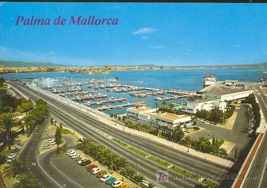 TARJETA POSTAL DE MALLORCA. PASEO MARITIMO Y CLUB DE MAR (Postales - España - Baleares Moderna (desde 1.940))