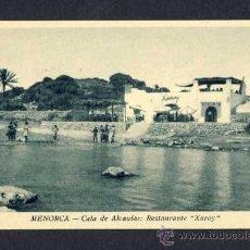 Postales: POSTAL DE MENORCA (ILLES BALEARS): CALA D' ALCAUFAR, RESTAURANT XUROY (ED.HR). Lote 10212508