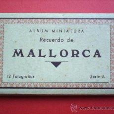 Postales: ALBUN MINIATURA-RECUERDO DE MALLORCA-12 FOTOGRAFIAS SERIA A- ACORDEON. Lote 22620177