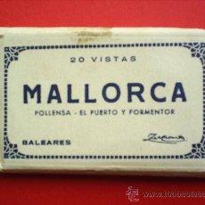 Postales: 20 VISTAS -MALLORCA-POLLENSA -EL PUERTO Y FORMENTOR----1951 BALEARES-- MINI -ACORDEON . Lote 13190165