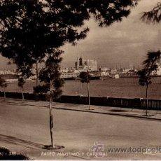 Postales: Nº 5470 POSTAL PALMA MALLORCA PASEO MARITIMO Y CATEDRAL. Lote 24428339