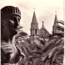 Postales: Nº 5396 POSTAL MALLORCA PALMA TORRES DE LA CATEDRAL DESDE LA PLAZA DE LA REINA. Lote 12116981
