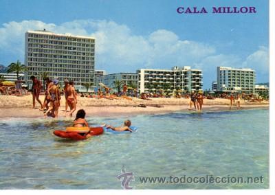 Usado, Nº 5543 POSTAL CALA MILLOR MALLORCA HOTELES CASTELL DE MAR HIPOCAMPO Y PLAYA DEL MORO segunda mano