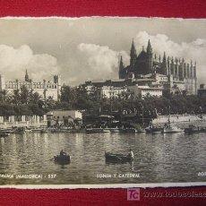 Postales: MALLORCA - PALMA - LONJA Y CATEDRAL. Lote 12470262