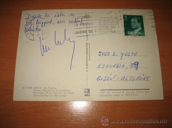 Postales: Nº 299 IBIZA.ISLA BLANCA.PUERTO DEPORTIVO AL ATARDECER.-A.SUBIRATS.-CIRCULADA - Foto 2 - 12527892