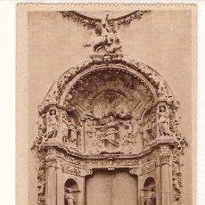 Postales: ANTIGUA POSTAL MALLORCA BASILICA DE SAN FRANCISCO PORTAL MAYOR ESCULTURA DE HERRERA HAUSER Y MENET. Lote 12822530