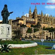 Postales: ESTATUA DE RAMON LLULL Y CATEDRAL (PALMA DE MALLORCA )+ POSTALES Y MUCHO + EN MI TIENDA. Lote 12935438