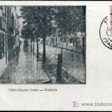 Postales: TARJETA POSTAL DE MAHON. CALLE DOCTOR ORFILA. IMP. ELZEVIRINA. Lote 17410500