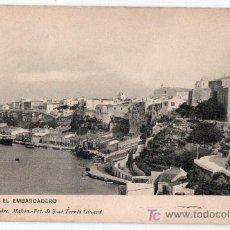 Postales: TARJETA POSTAL DE MAHON, MENORCA. EL EMBARCADERO. ED. REMIGIO ALEJANDRE. FOTO JOSE TORRES GINARD. Lote 26466906