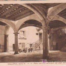 Postales: ANTIGUA POSTAL : MALLORCA. SERIE IV - PATIO BARROSO MALLORQUÍN DEL SIGLO XVII. 1924. Lote 13917670
