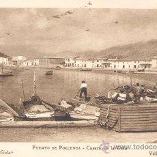 Postales: MALLORCA- POLLENSA- PUERTO- CASERÍO DE LA GOLA. Lote 13996666