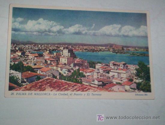 BONITA POSTAL PALMA MALLORCA, PRIMER COLOR, AÑOS 40 ? (Postales - España - Baleares Moderna (desde 1.940))