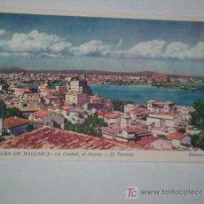 Postales: BONITA POSTAL PALMA MALLORCA, PRIMER COLOR, AÑOS 40 ?. Lote 25821583