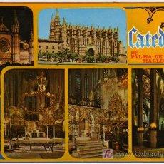 Postales: BONITA POSTAL - PALMA DE MALLORCA - VISTAS DE LA CATEDRAL. Lote 14685110