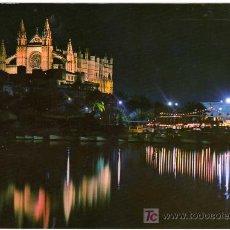 Postales: BONITA POSTAL - PALMA DE MALLORCA - VISTA NOCTURNA DE LA CATEDRAL . Lote 14685470