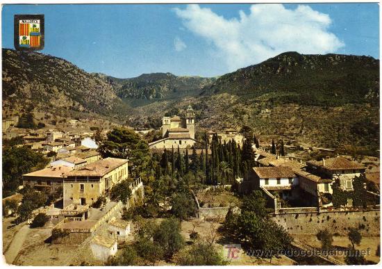 BONITA POSTAL - PALMA DE MALLORCA - VALLDEMOSA - VISTA PARCIAL (Postales - España - Baleares Moderna (desde 1.940))