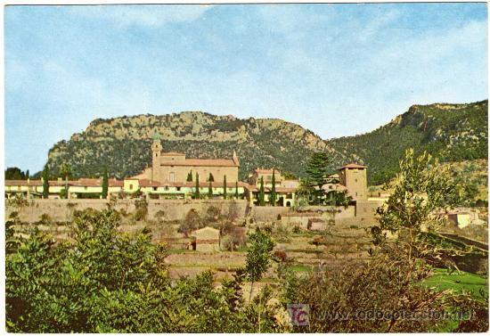 BONITA POSTAL - PALMA DE MALLORCA - VALLDEMOSA - LA CARTUJA (Postales - España - Baleares Moderna (desde 1.940))