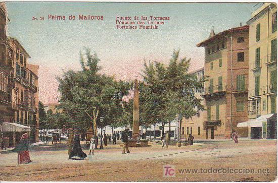 PS2251 PALMA DE MALLORCA 'PUENTE DE LAS TORTUGAS'. SIN CIRCULAR (Postales - España - Baleares Antigua (hasta 1939))
